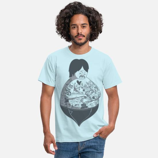 Tattoo T-Shirts - Tattoo Guy - Men's T-Shirt sky