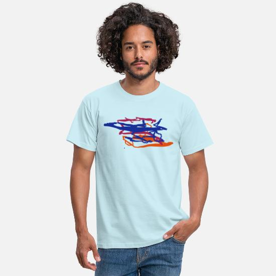 Modern Art T-Shirts - colour - Men's T-Shirt sky