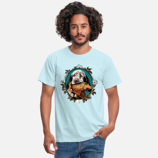 Chien T-shirts - setter_and_woodcock - T-shirt Homme ciel