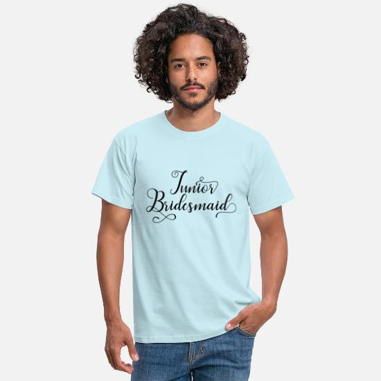 Just Married T-shirts - Junior Bridesmaid - T-shirt Homme ciel