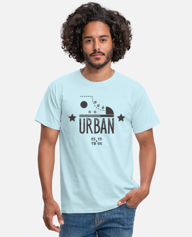 New T-Shirts - Urban LIFE - Leibl Design - Men's T-Shirt sky