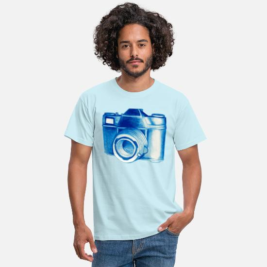 Filigree T-Shirts - camera - Men's T-Shirt sky