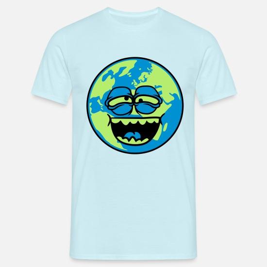 Faccia di pianeta terra divertente cartone animato cartone animato