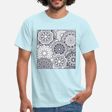 Hindi Bloemen mandala - Mannen T-shirt