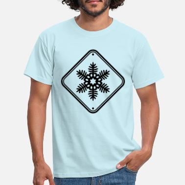 Frost Snow star warning sign - Men's T-Shirt