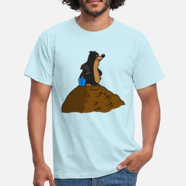Erdhaufen Mole earth Mole hive funny big garden s - Men's T-Shirt