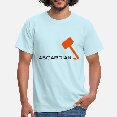 Asgardian logo with Thor's hammer - Men's T-Shirt