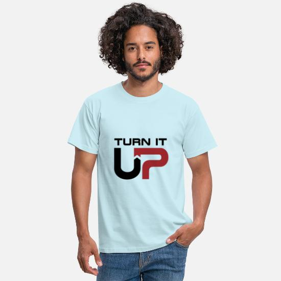 Mp3 T-Shirts - Turn it up music to turn up loud music - Men's T-Shirt sky