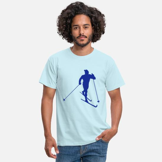 Cross Country Skiing T-Shirts - Cross-country skiing - Men's T-Shirt sky