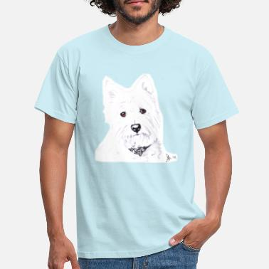 West Westie (West Highland Terrier) Dog - Men's T-Shirt