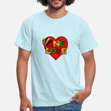 Marley Peace Love Rasta Lion Of Judah Art Reggae - Camiseta hombre