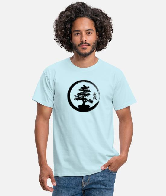 Zen T-Shirts - bonsai - Men's T-Shirt sky