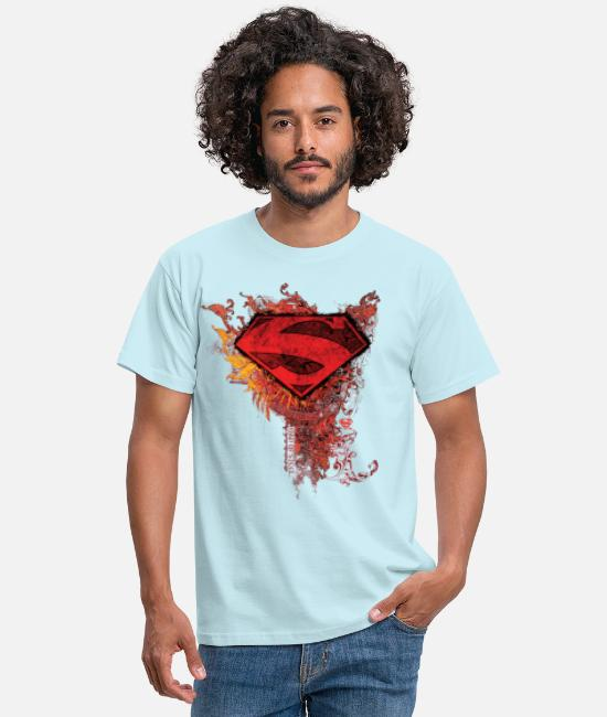 Super-Pouvoir T-shirts - Superman S-Shield Ornate Tee shirt manches longues - T-shirt Homme ciel
