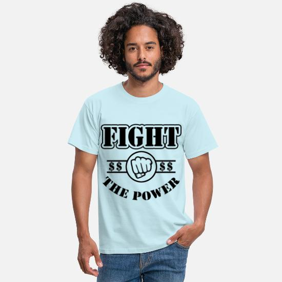Occupy Wall Street T-Shirts - fight The Power - Men's T-Shirt sky