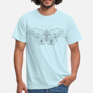 Graphic Art Moth Graphic Line Art - T-skjorte for menn