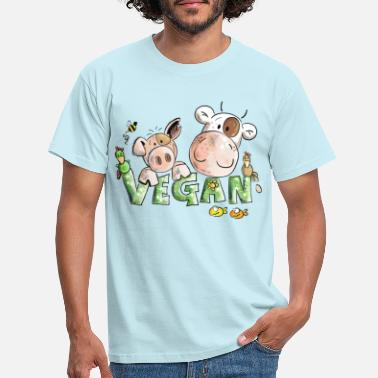 Cow Vegan - Men's T-Shirt