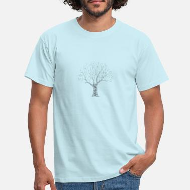 Wordart Tree WordArt - T-shirt mænd