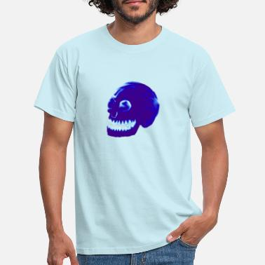 Stylized Blue Skull - Men's T-Shirt
