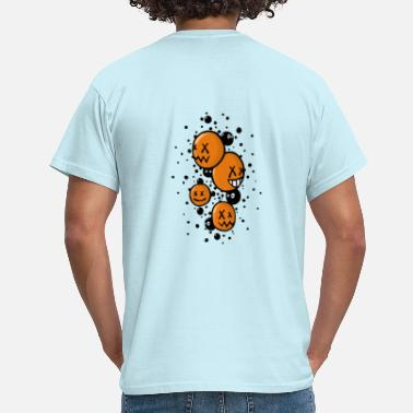 Orange Les crazy faces oranges - T-shirt Homme