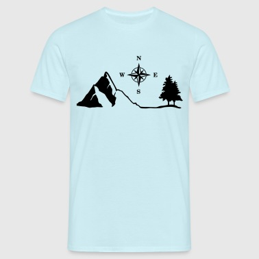 Nature, Mountain, Compass - T-shirt Homme