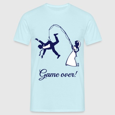 Game Over (Bride Fishing Husband) - Men's T-Shirt