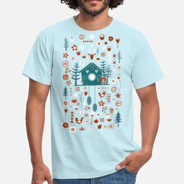 Scandinavian Cuckoo Clock - Men's T-Shirt