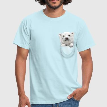 POCKET POLAR BEAR - Men's T-Shirt