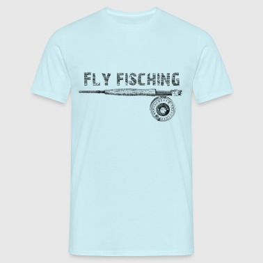 Angel fly fishing - Männer T-Shirt
