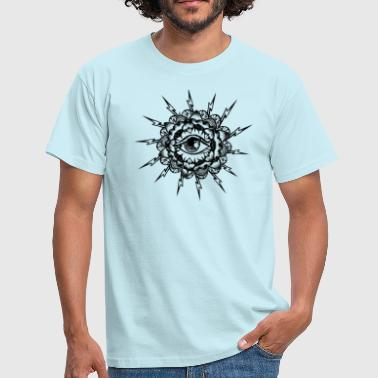 Spiritual eye with lightning meditation buddha - Men's T-Shirt