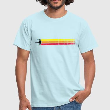 X-WING RETRO STRIP (BLACK - Men's T-Shirt