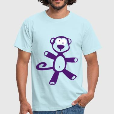 Affe Monkey Chimp Monkeys Gorilla Funny Mono - Camiseta hombre