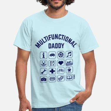 Allrounder Multifunctional Daddy (16 Icons) - Männer T-Shirt