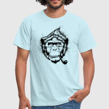 Ironic Chimp - Männer T-Shirt