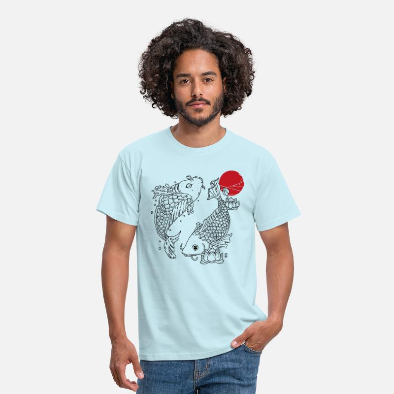 Japan T-Shirts - Koi - Mannen T-shirt sky
