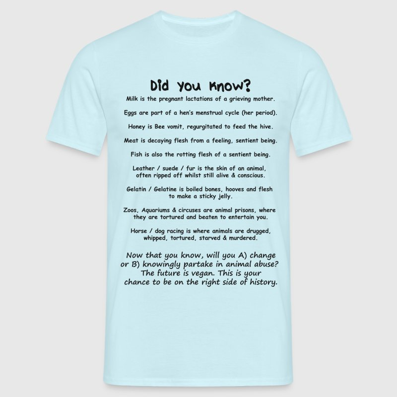 Did you know? Vegan facts - Men's T-Shirt