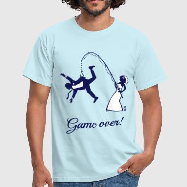 Groom Game Over (Bride Fishing Husband) - Men's T-Shirt