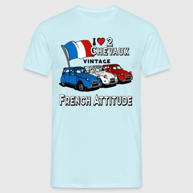 i love 2 chevaux  - T-shirt Homme