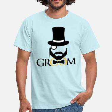 Team Awesome cylinder hat monocle briller brudgom ringe team jungg - Herre-T-shirt