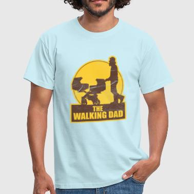 Baby Zwillinge THE WALKING DAD VATERTAG  - Männer T-Shirt