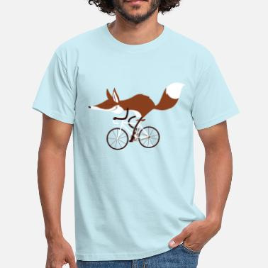 Cycling fox - Men's T-Shirt