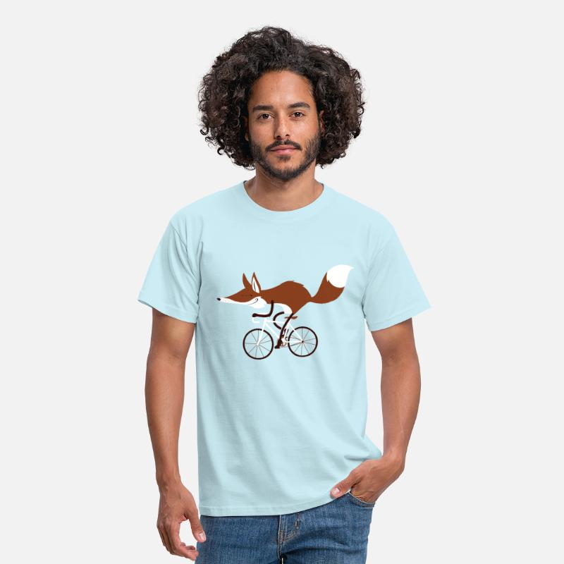 Cycling T-Shirts - Cycling fox - Men's T-Shirt sky