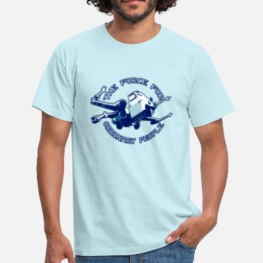 Piaggio Ape X-wing ordinary blue - T-shirt Homme
