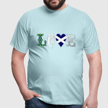 Love Scotland white - Men's T-Shirt