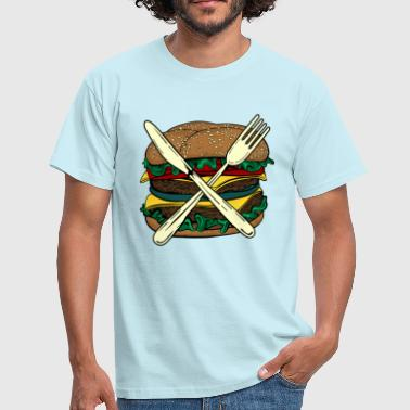 Burger X - Men's T-Shirt