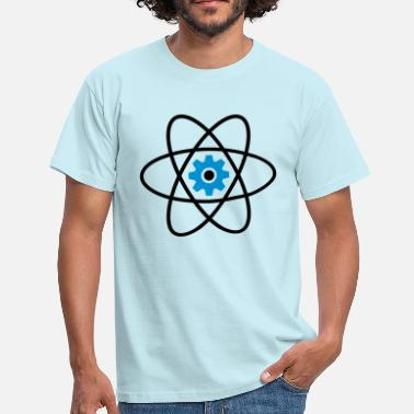 Patterns symbol atom sign cool circle round pattern mechani - Men's T-Shirt