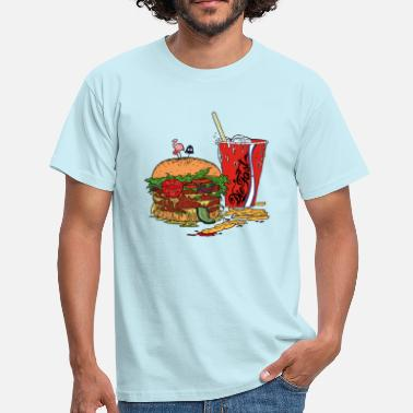the-fast food black 2 - Men's T-Shirt