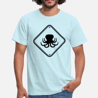 Hazmat Warning shield caution note zone danger - Men's T-Shirt