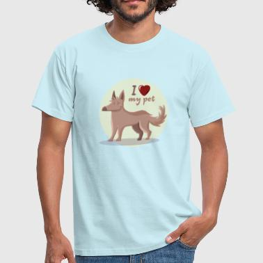I Love My Son I love my pet - Camiseta hombre