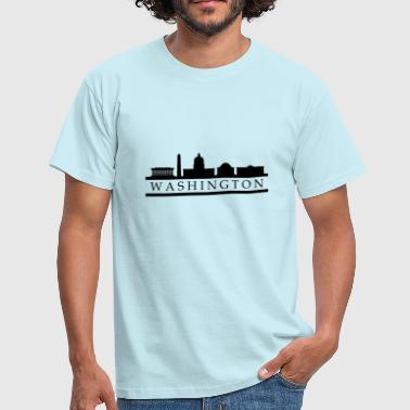 Skyline Washington - T-shirt Homme