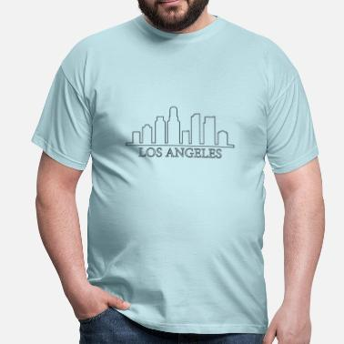 Tower Los Angeles skyline - Herre-T-shirt